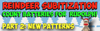 reindeer count and subitize 2