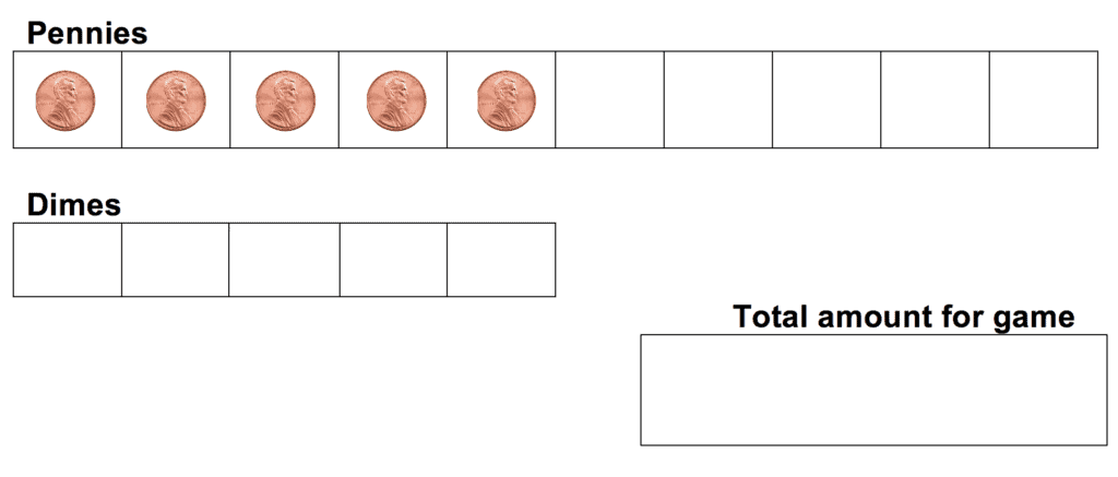 pennies and dimes score sheet