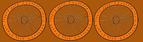 bicycle wheel cartoon- 3 wheels
