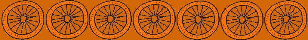 bicycle wheel cartoon 7 wheels