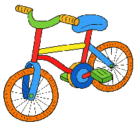 bicycle cartoon with colors