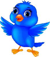 bird cartoon blue