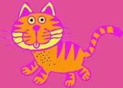cat cartoon purple