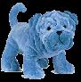 dog blue stuffie