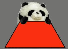 trapezoid with panda
