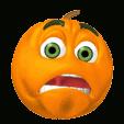 pumpkin scared face
