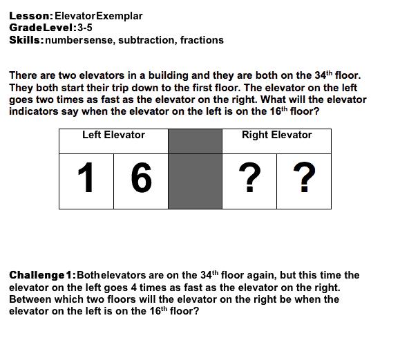elevator exemplar