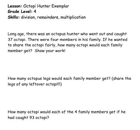 octopus hunter lesson