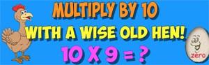 multiply with the ten hen
