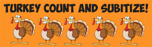 turkey count and subitize