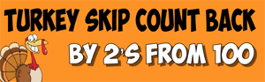 thanksgiving skip count back by 2