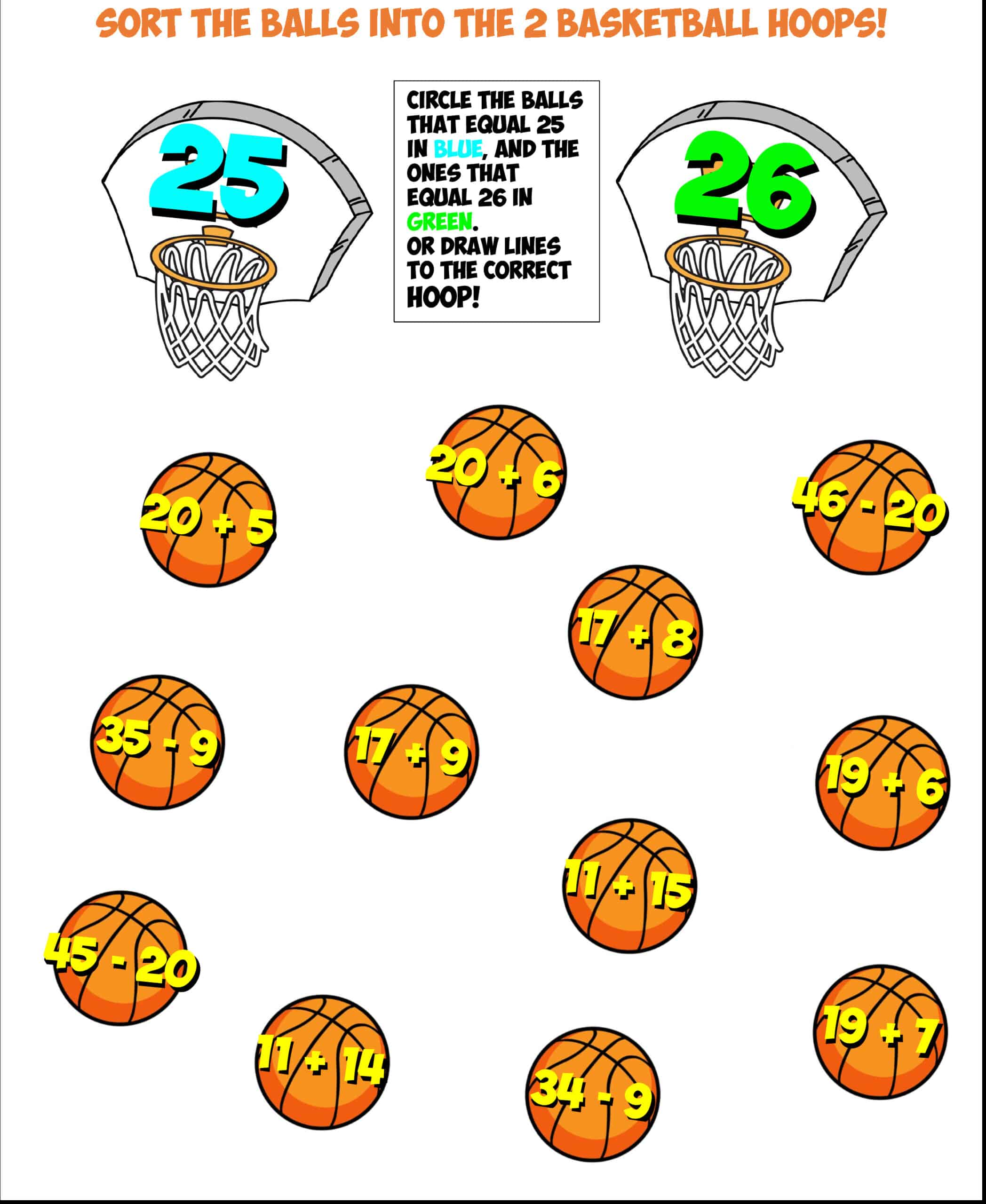 basketball sort #1