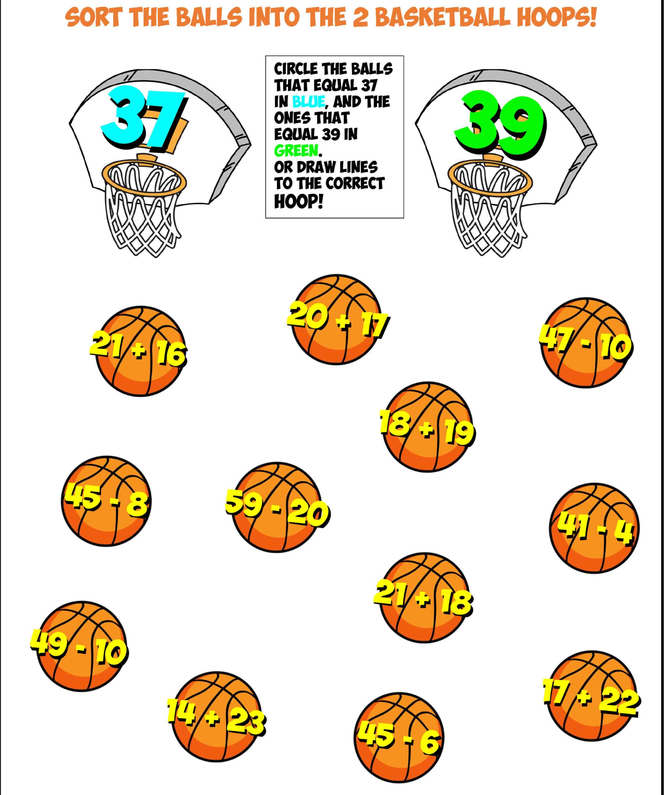 basketball sort #2