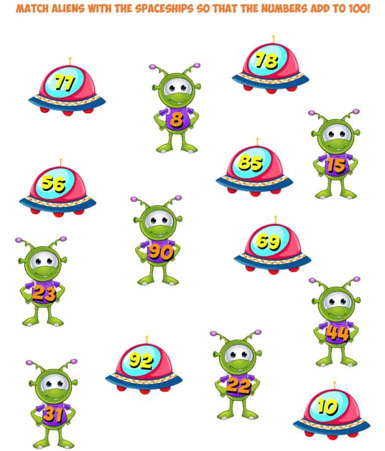 alien match sums of 100