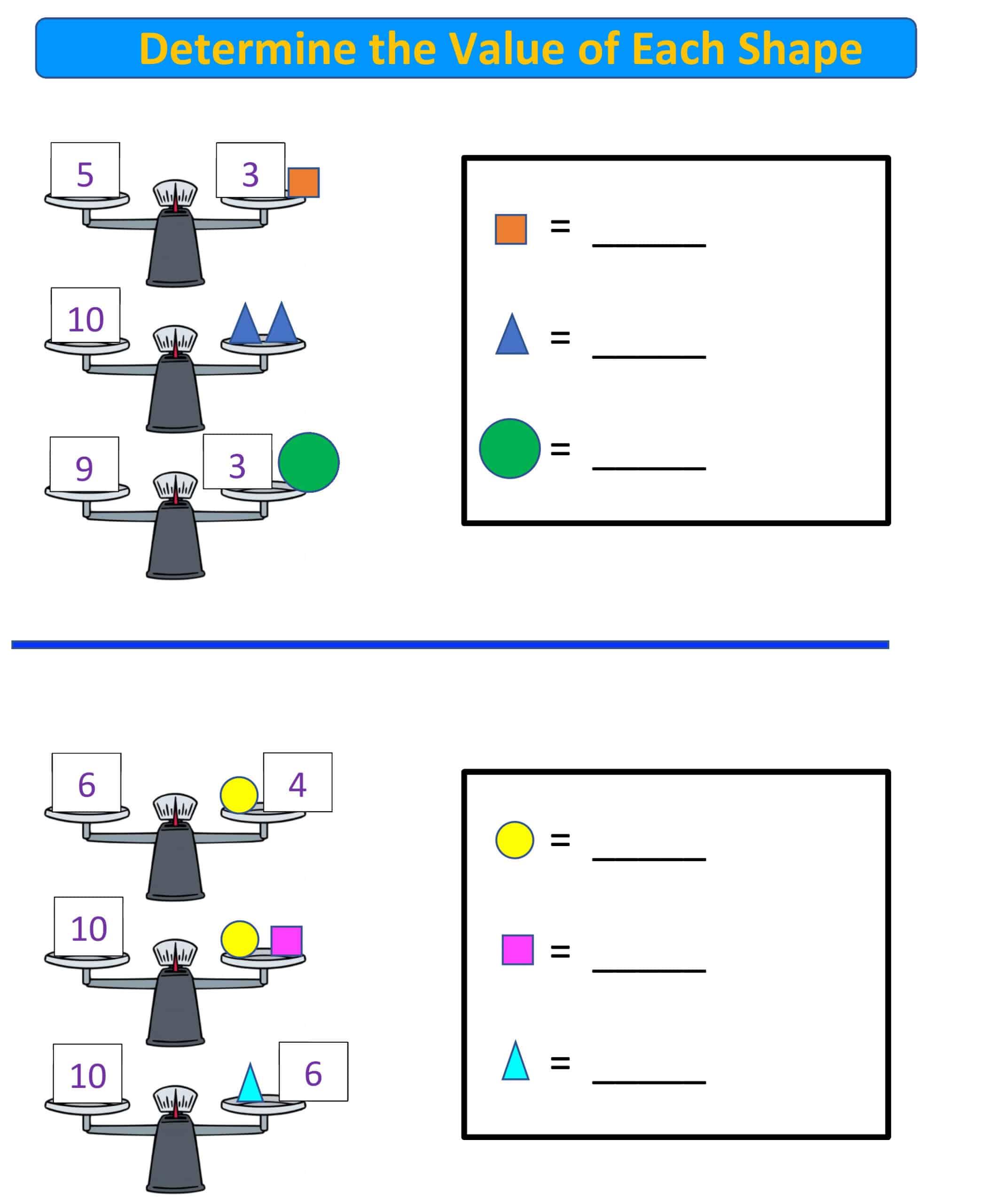 balance scale k-2 grade.1