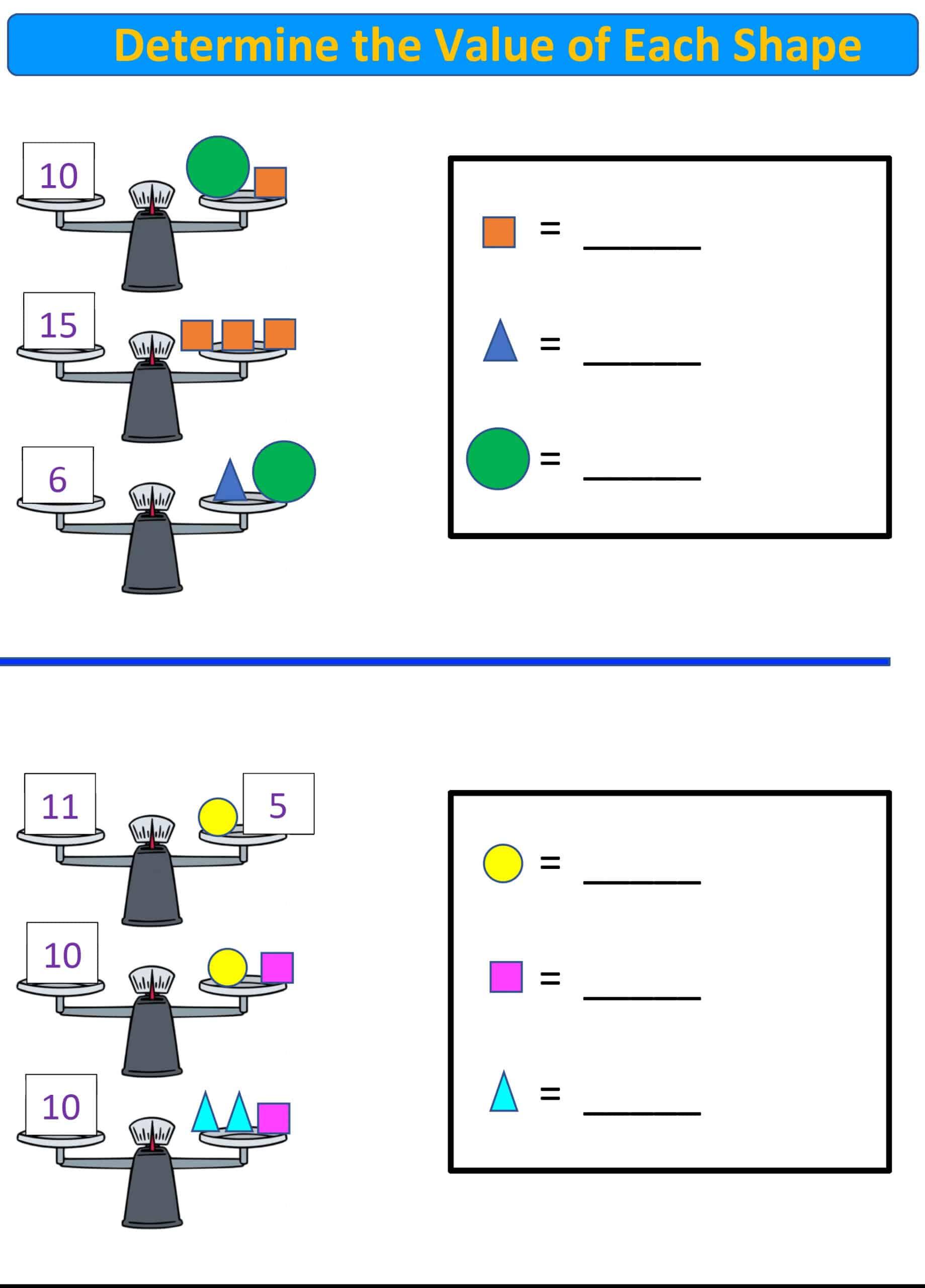 balance scale math k-2 grade.5