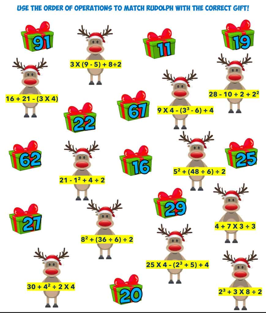 christmas order of operations 4