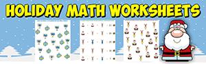 holiday math worksheets