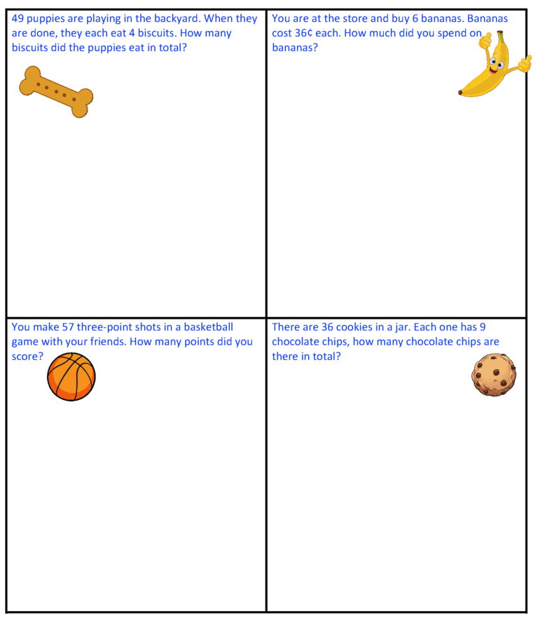 multiplication word problems 1-1X