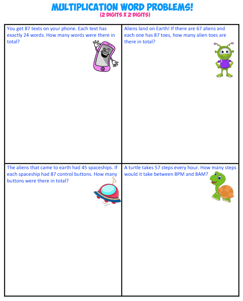 multiplication word problems 2-2X