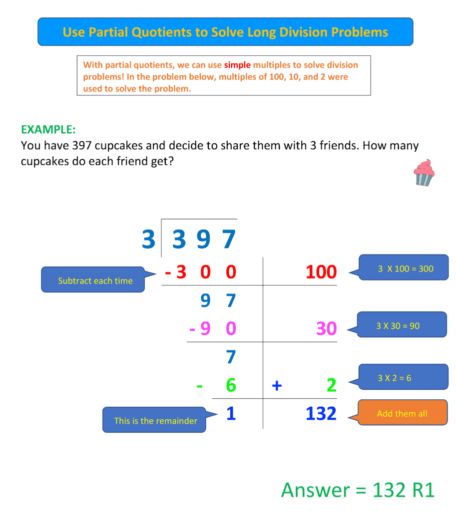 partial quotients 2- worksheet