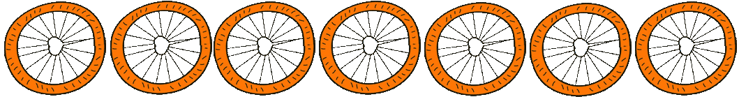 7 Bicycle Wheels Cartoon 3
