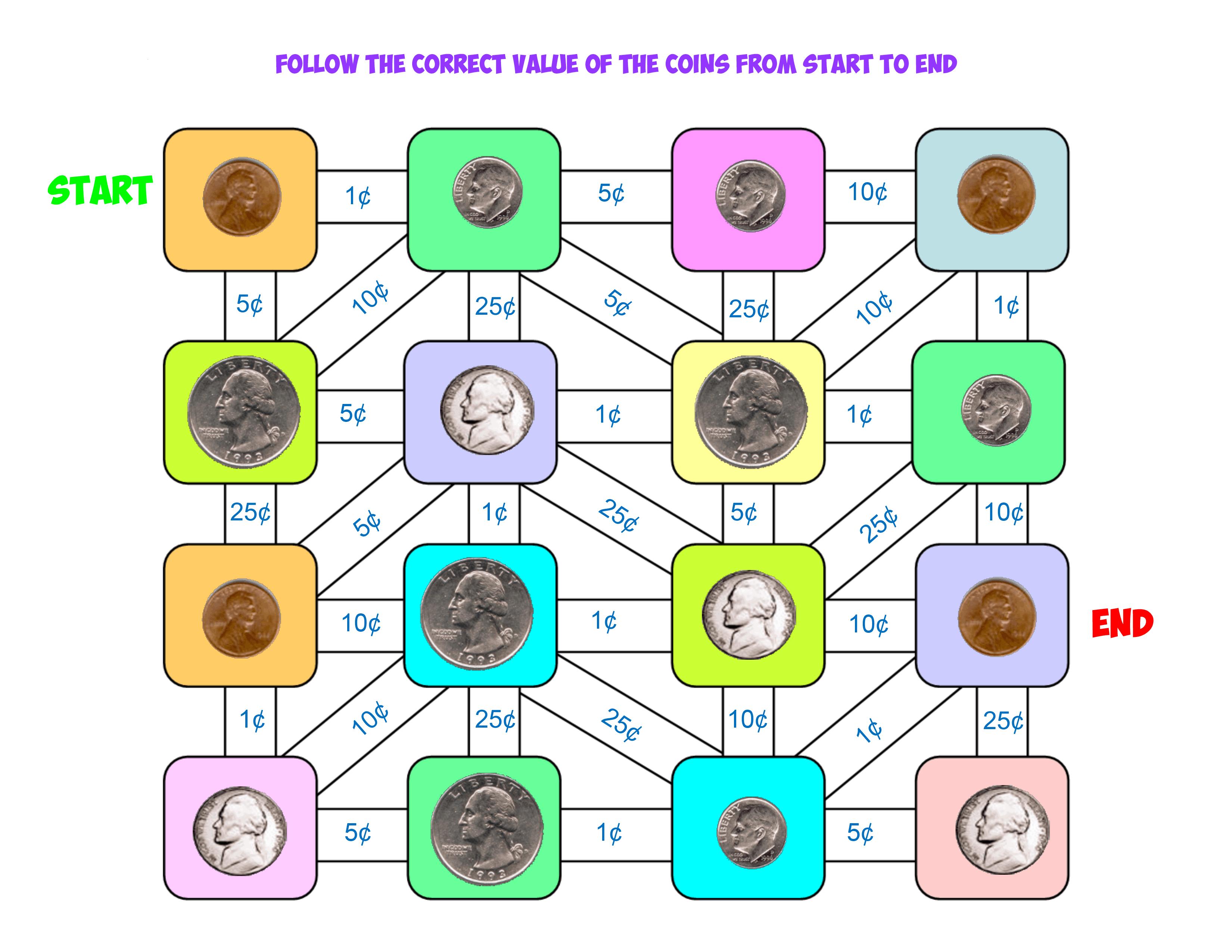 coin value maze 1
