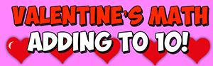 valentines math adding to 10