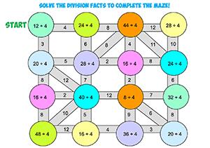 Division Maze 4'sTHUMB