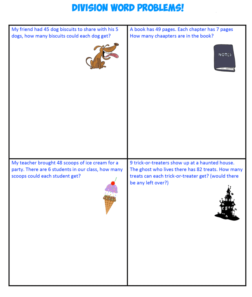 Division Word Problems 1