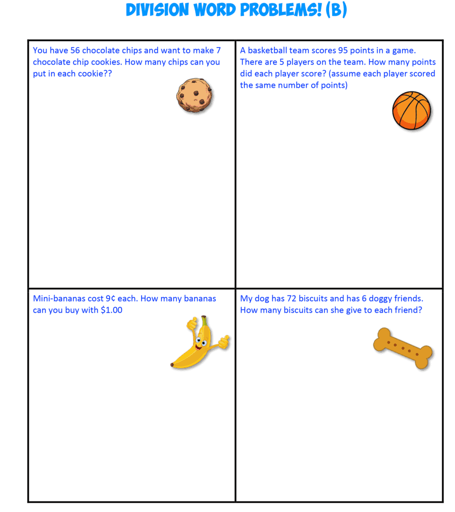 Division Word Problems B
