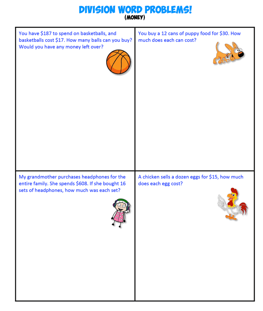 Division Word Problems D