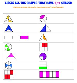 Fractions Math Worksheet