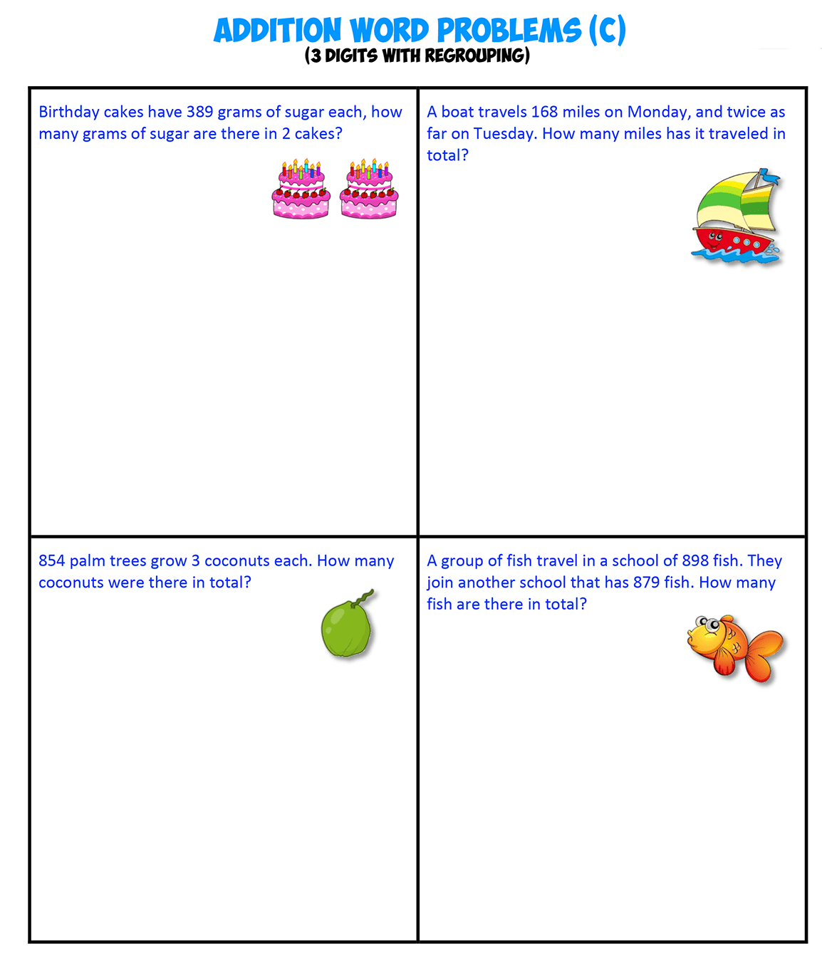 Addition Word Problems C