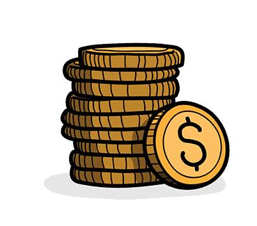 coins cartoon