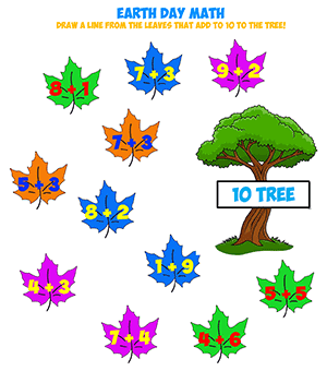 earth day addition sheet tens