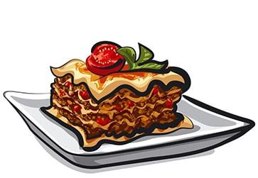lasagna cartoon