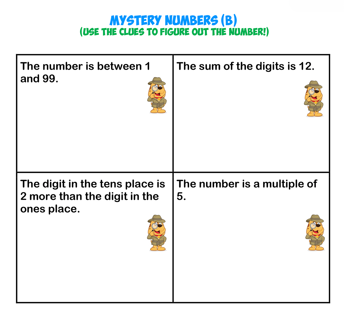 Mystery Numbers 2