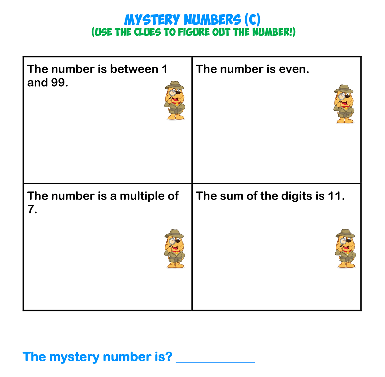 Mystery Numbers 3