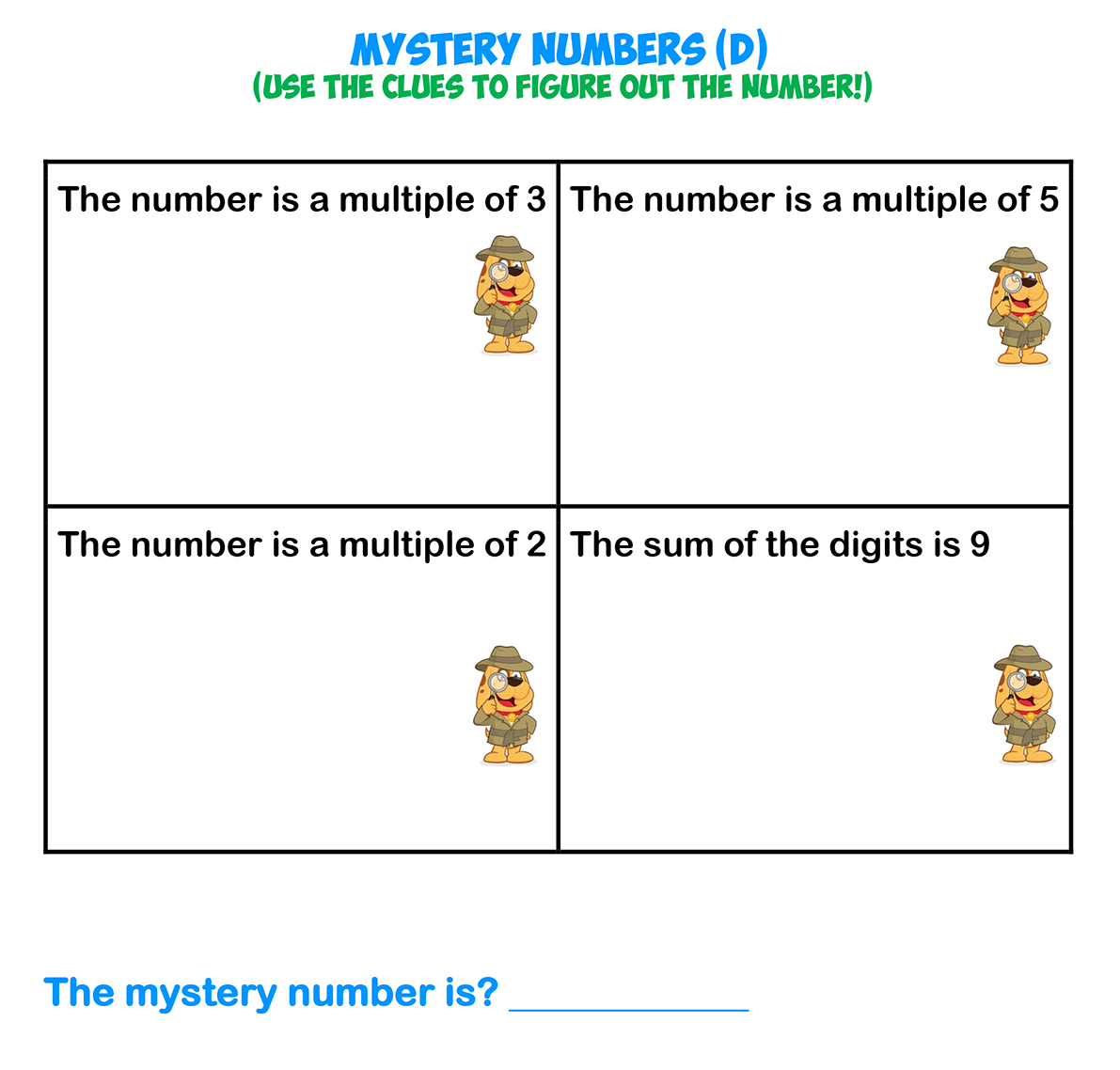 Mystery Numbers 4