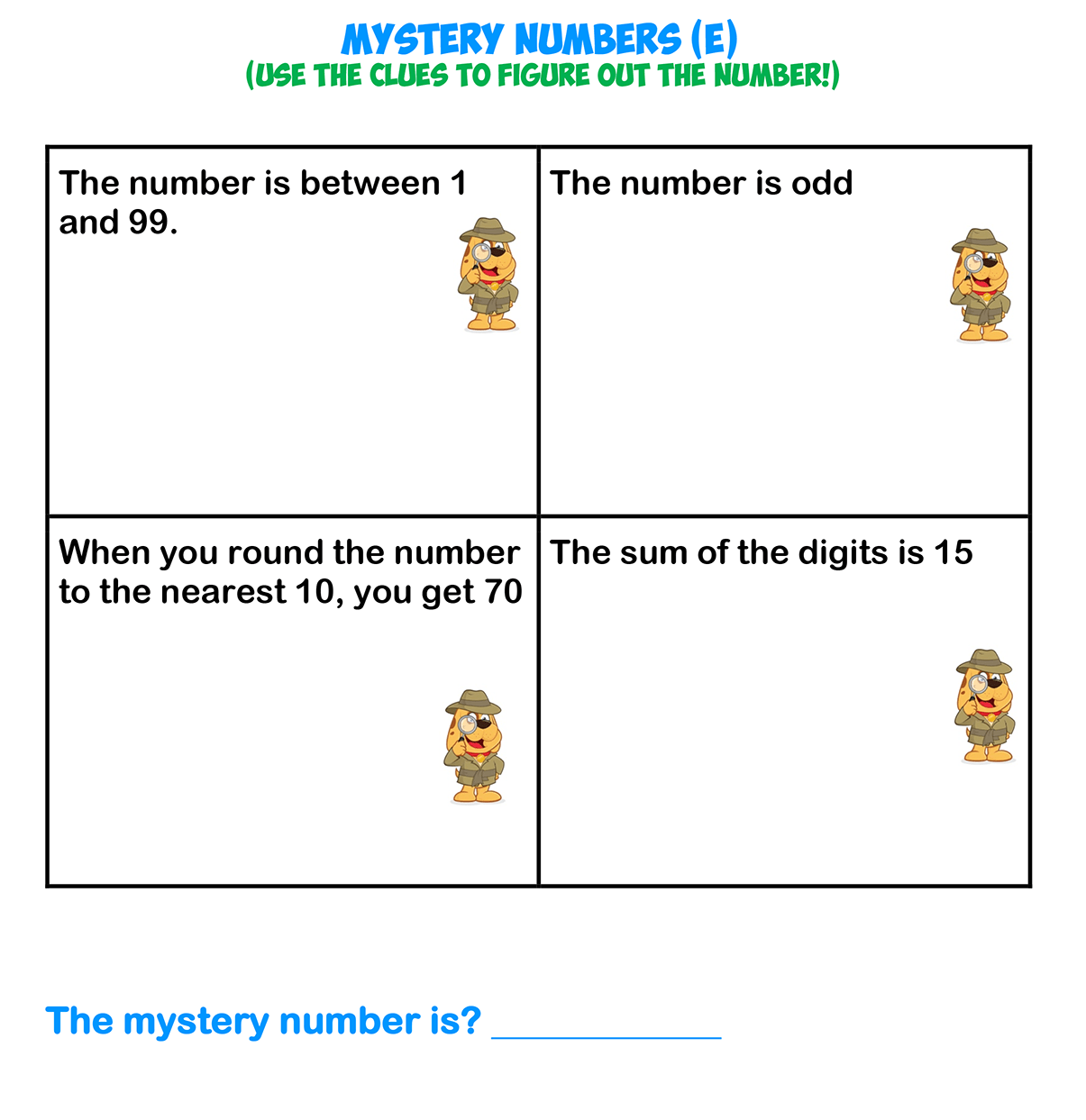 Mystery Numbers 5