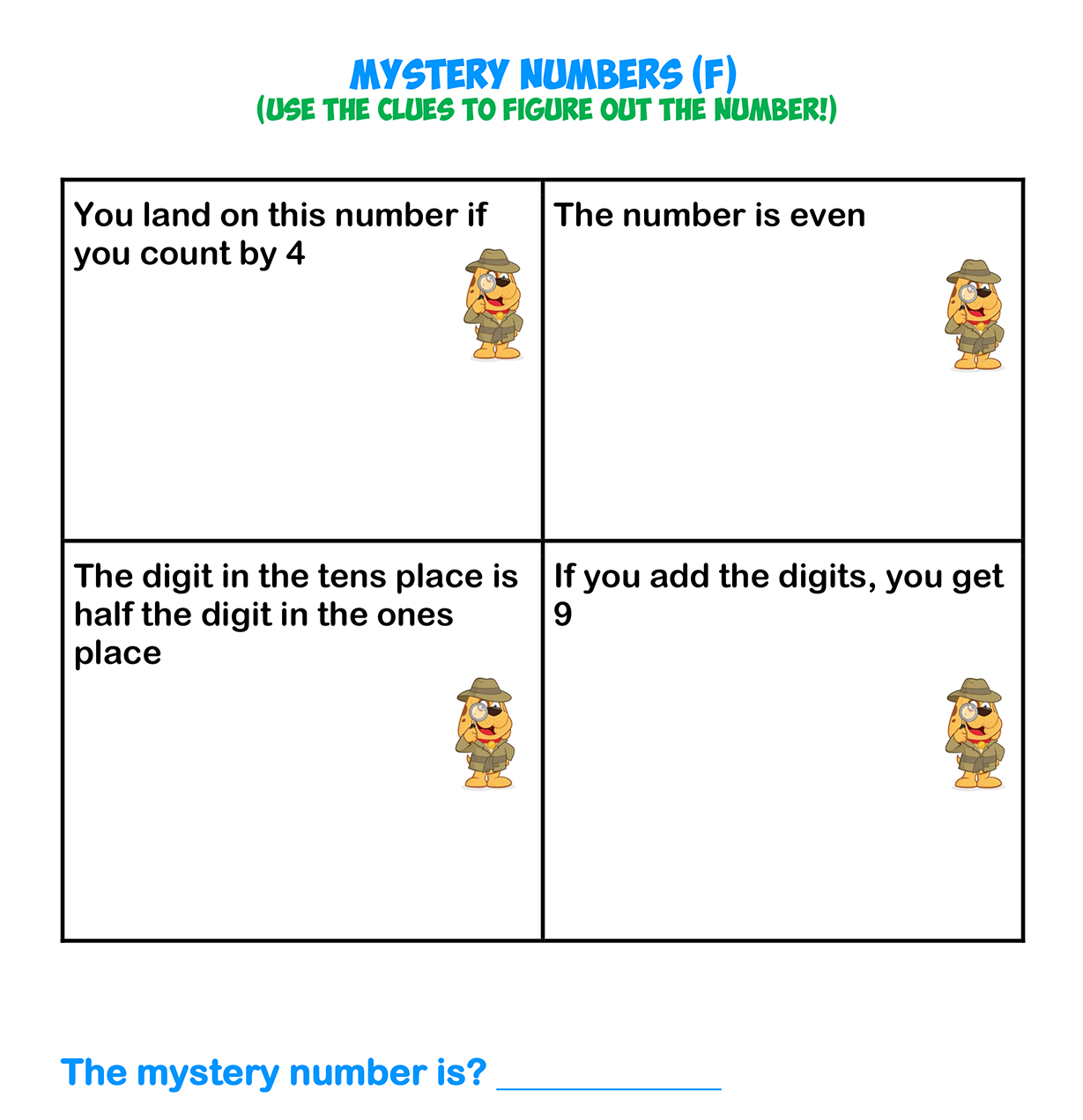 Mystery Numbers 6