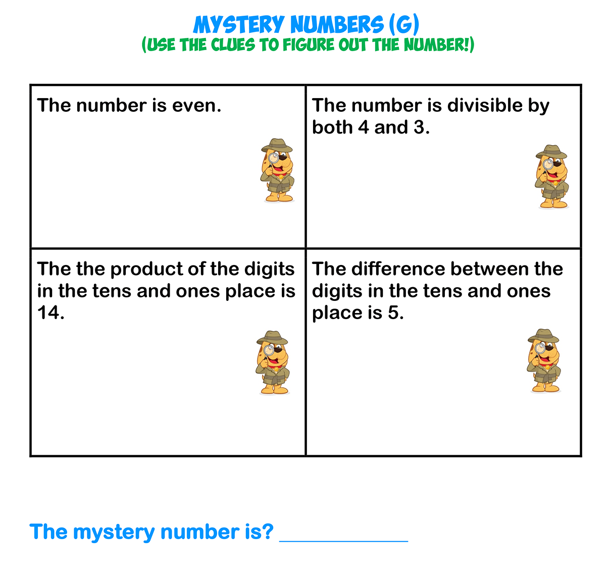 Mystery Numbers 7