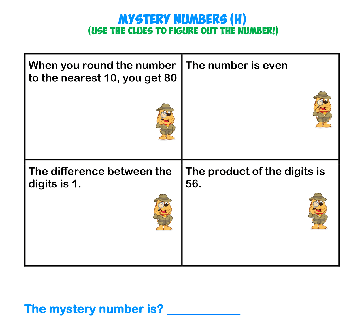 Mystery Numbers 8