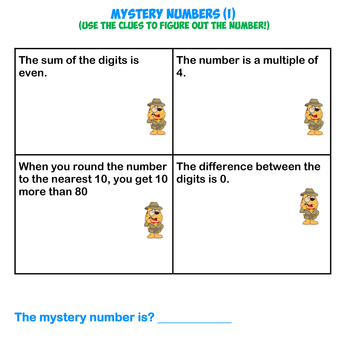Mystery Numbers 9