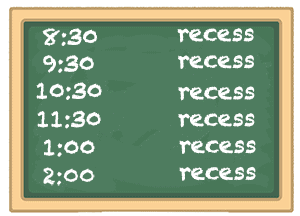 recess all day schedule