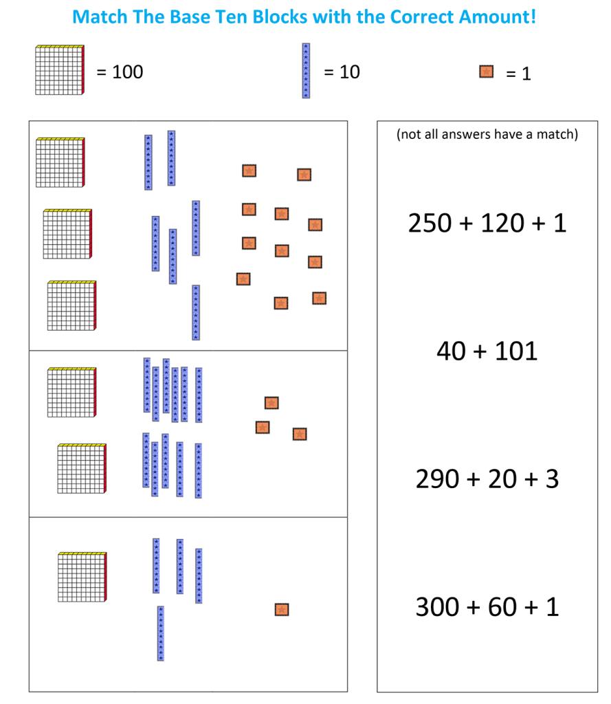 Base Ten Block Challenge A