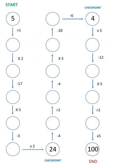 number maze 5